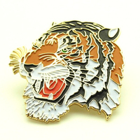 100% Guaranteed OEM FASHION LION ANIMAL SOFT ENAMEL GOLD PIN BADGE