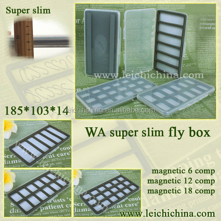 Super slim magnetic compartment hook fly fishing box
