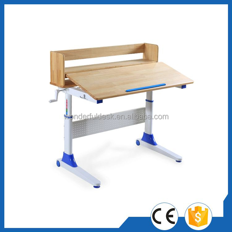Customized up down function adjustable children study desk set