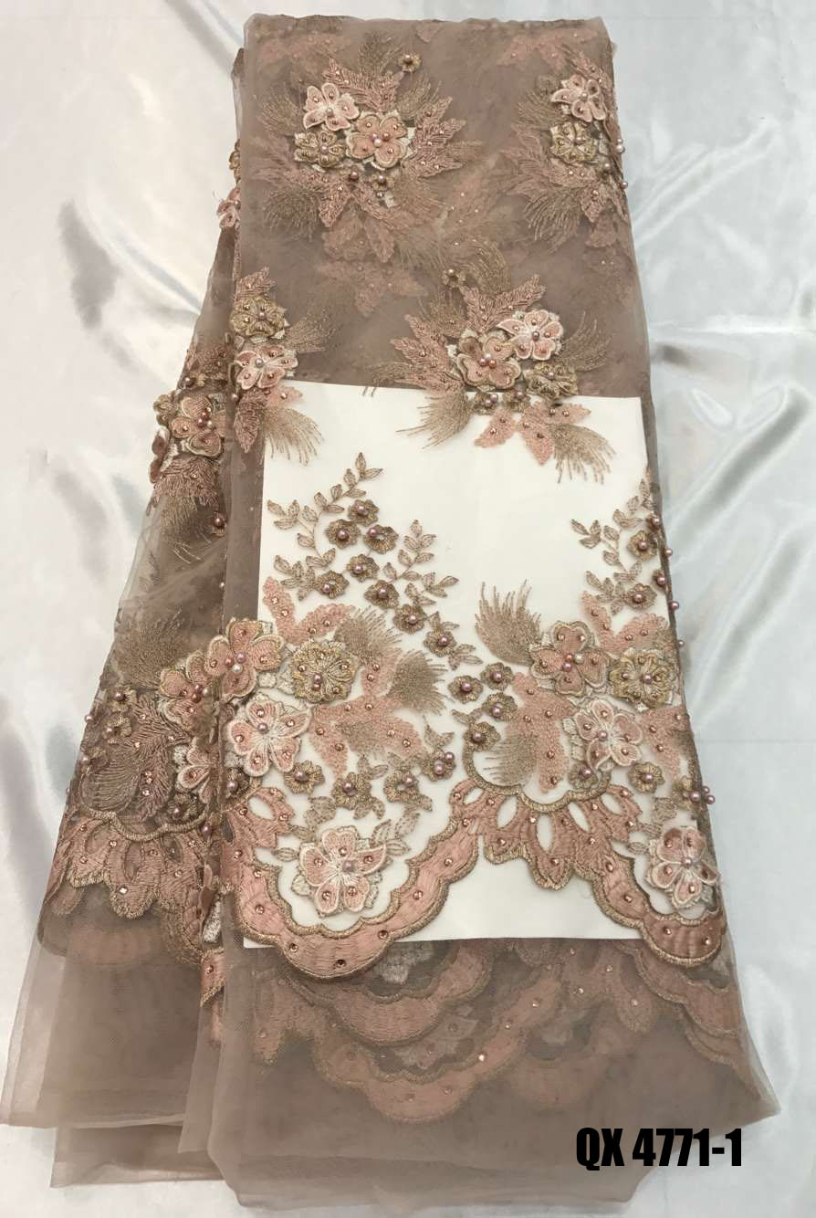 Top quality handmade d beaded lace applique bead