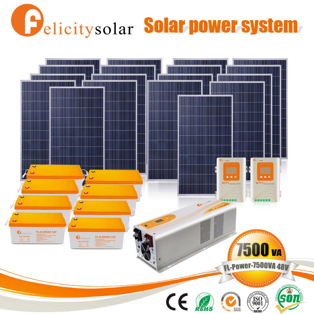 New green energy 5000 watt solar and wind power hybrid system