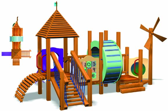 Estilo del molino de viento ni os de madera patio hermoso patio al aire libre piezas env o - Jeux exterieur bebe ...