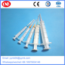 Disposable plastic 3ml, 5ml,10ml 20ml veterinary injection syringe with needle