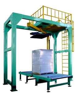On Line Pallet Rotary Arm Stretch wrapping machine +Film Applicator