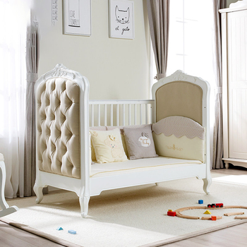Ceasar European Luxury design new born 3 in 1 solid wood baby cot luxury baby crib baby bed