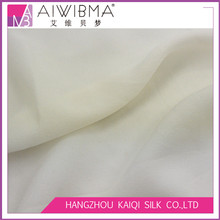 14mm/momme Undyed/PFD white 100% pure mulberry silk georgette/ggt fabric for plain dyeing or printing for wedding dresses,etc