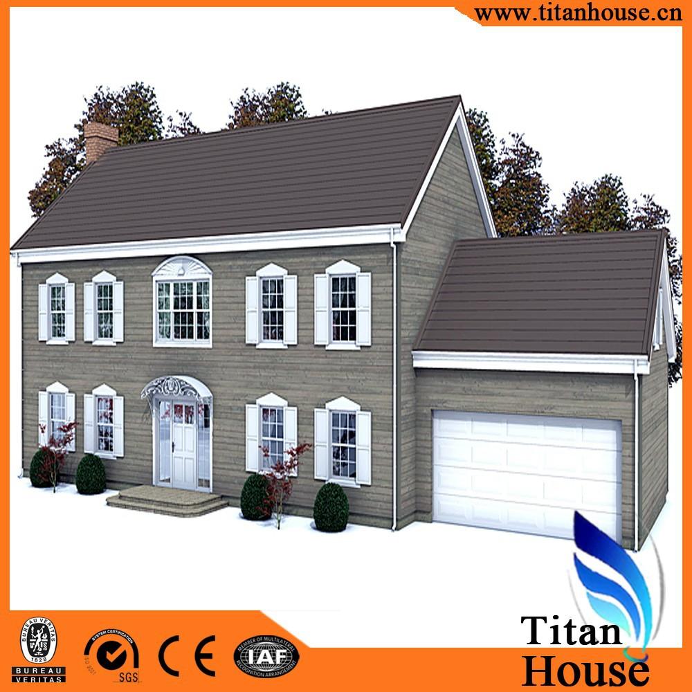 Economische luxe moderne ontwerpen lichte stalen frame huis prefab ...