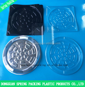 Customized PP PET PS PE electronic product packaging with PS black Anti-static packing blister tray