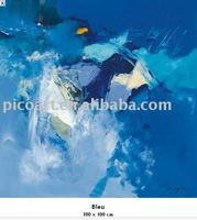 handpainted abstract ocean oil painting on canvas