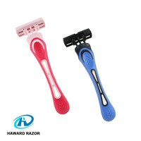 Body hair removal use shaving five stainless steel blade men and women disposable razor