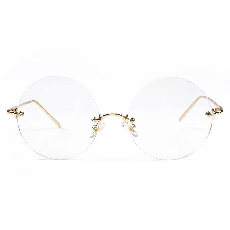 Круглые очки без оправы оптического стекла высокого качества очки круглые  очки зрелище ss005 29e51e21a08
