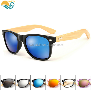New products Bamboo legs sunglass outdoor leisure glasses anti-glare anti-UV bamboo sunglasses