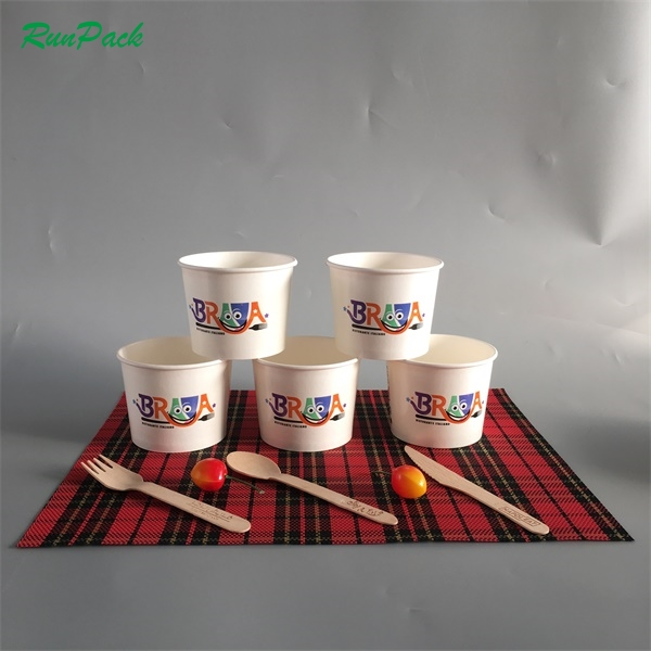 Wegwerp ijs icecream paper cup