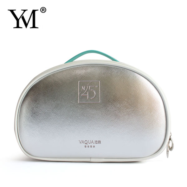 2017 korean style lady fashion promotion wholesale handmade pu leather makeup vanity beauty cosmetic bag