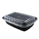 Hot Sell disposable food storage containers 700ml Plastic Lunch Box Bento With Lid