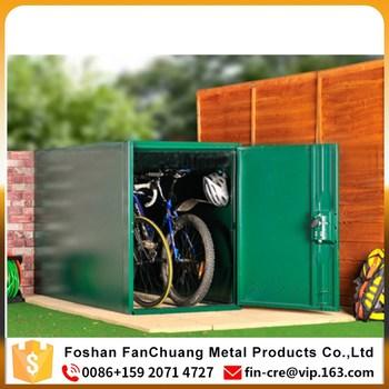 Outdoor Bike Storage Shed Cabinet Waterproof Bike Locker Public