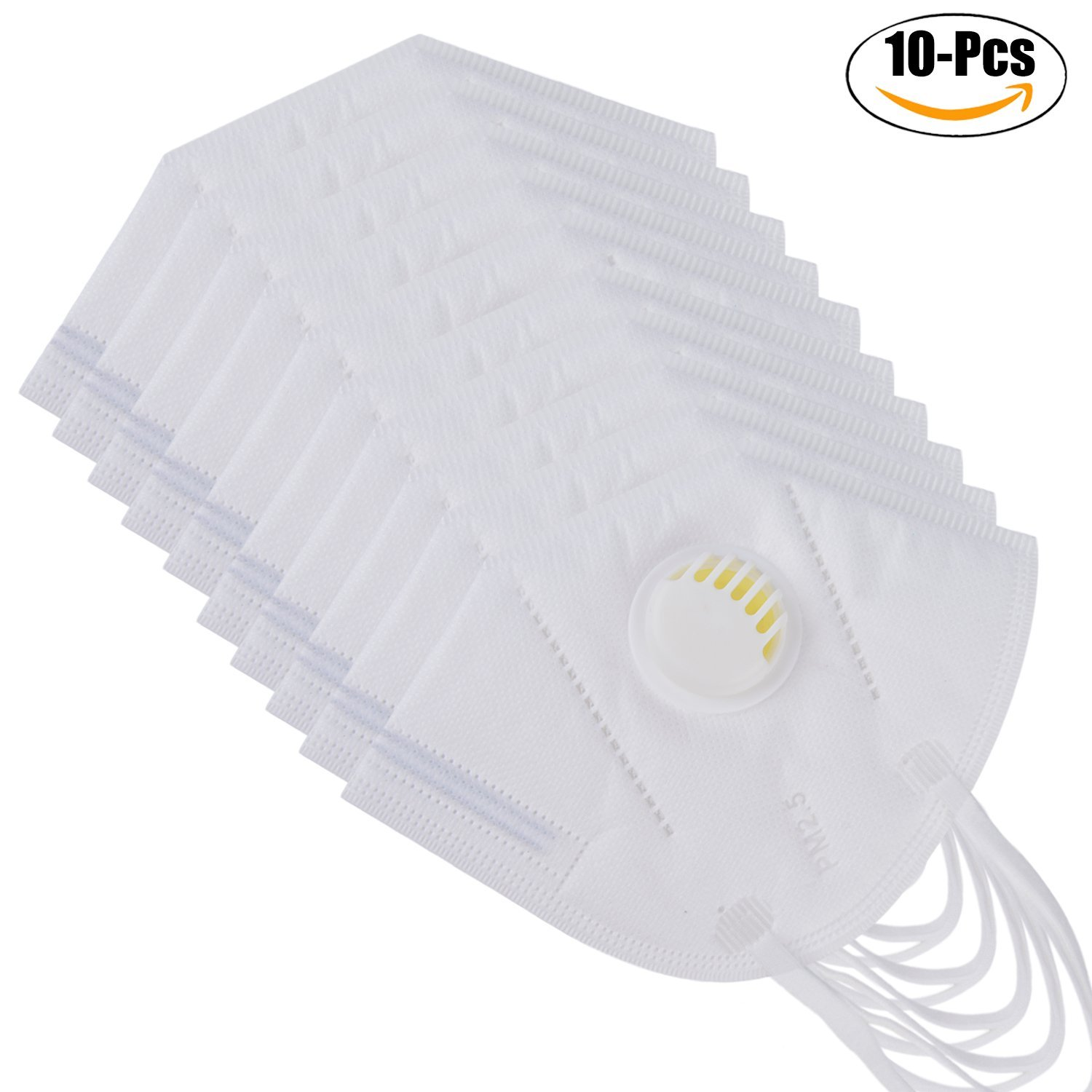 10pcs Disposable 4layers Non-woven Mouth Mask Activated Carbon Filter Pm2.5 Dustproof Anti Pollution Surgical Earloop Respirator Personal Health Care Masks