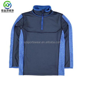 High quality 92%polyester 8%spandex 2 tone color men sweatshirt