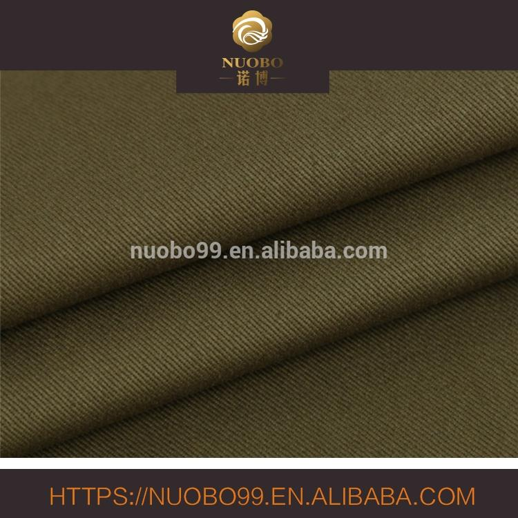 100% cotton single yarn drill twill fabric for suiting and trousers