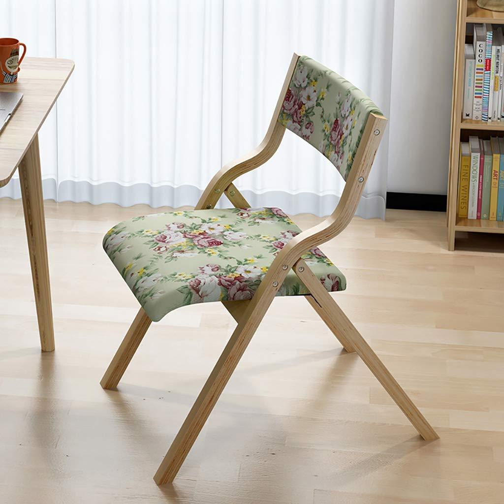 ZCCYZ Solid Wood Dining Chair Folding Chair Home Fabric Leisure Chair Creative Backrest Chair Computer Chair Simple Modern Chair