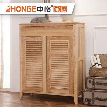Modern Living Room Solid Wood Shoe Storage Cabinet Nordic Shoe