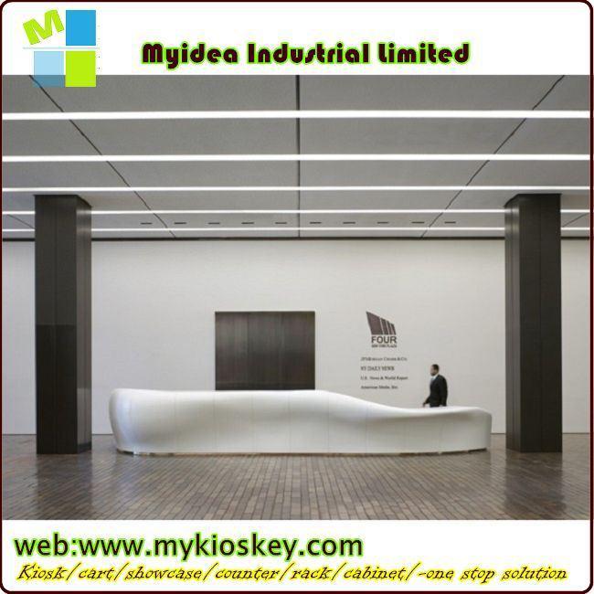 Modern Design Melamine Reception Table Reception Desk Bank