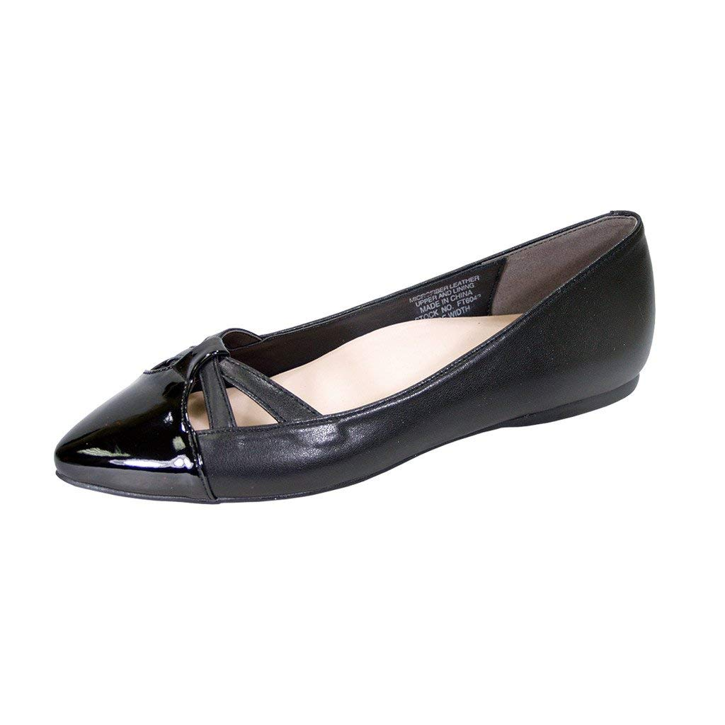 f9faaa2564 Get Quotations · Peerage Sidney Women Wide Width Pointed Toe Casual Dress  Step in Flats (Size Measurement