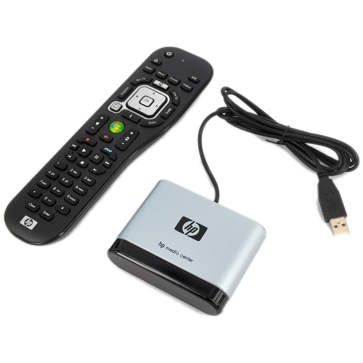 New HP OEM Windows Media Center HTPC MCE PC RC6 IR Remote Control + IR emitter and Infrared Receiver for Windows7 Vista XP Home Premium and Ultimate Edition (Discontinued by Manufacturer)
