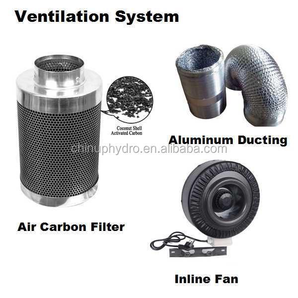 hydroponics inline exhaust fan carbon air filter nonwoven activated carbon filter air filter activated