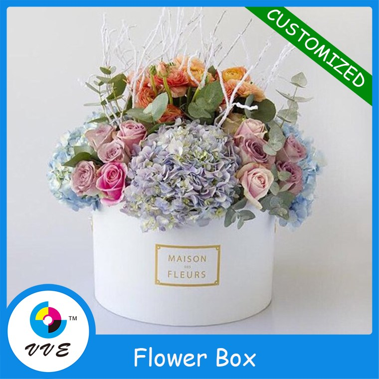 Luxury round white flowers delivery boxescardboard flower boxes luxury round white flowers delivery boxescardboard flower boxes with nice ribbon supplier made in china buy luxury round white flowers delivery boxes mightylinksfo