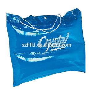 blue inflatable beach bag, back support lumbar support pillow bag