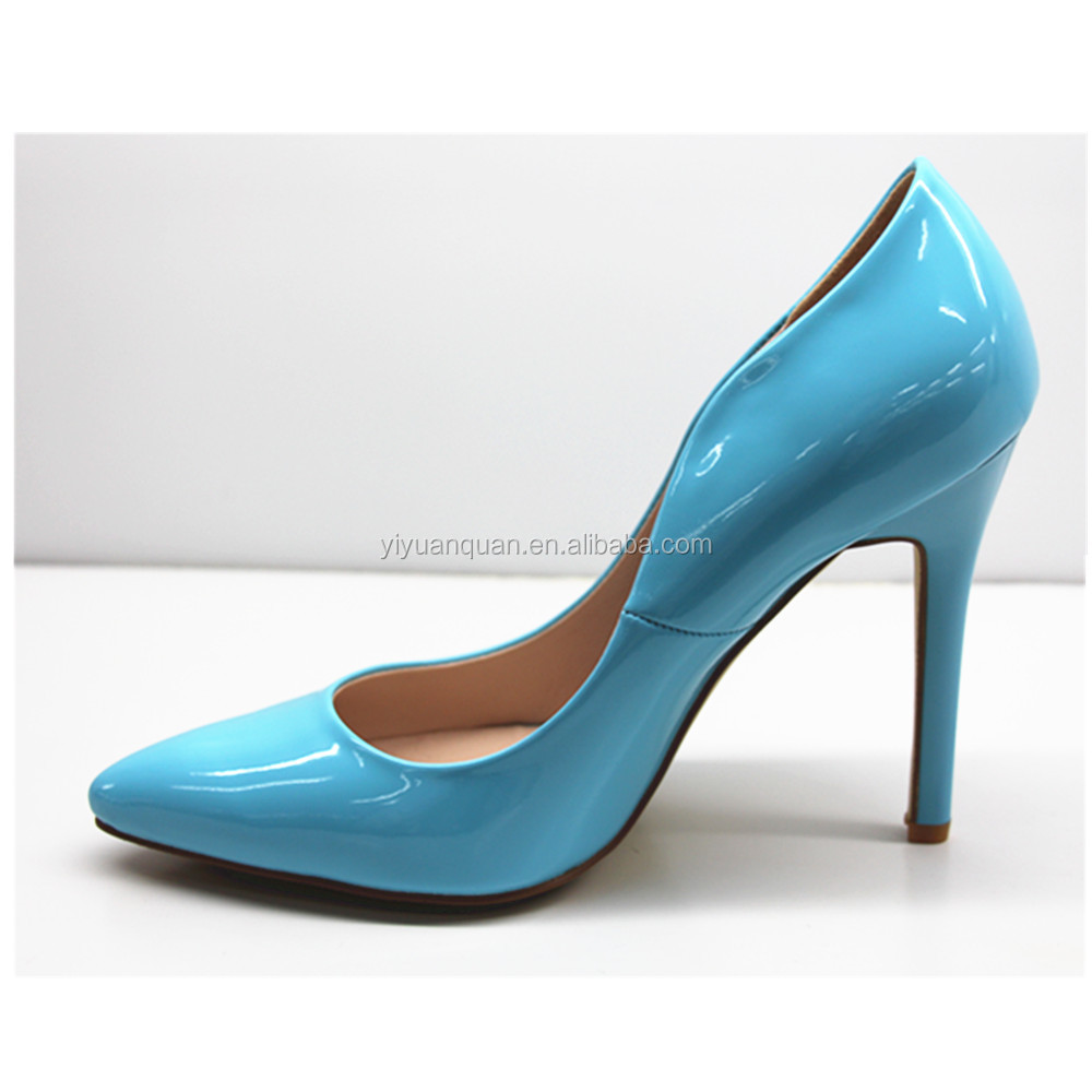 Elegant Sky Blue Dress Shoes For Women