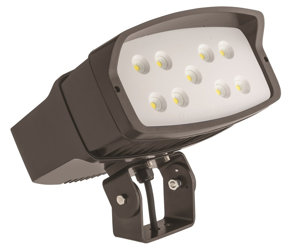 Lithonia Lighting OFL2 LED P2 50K MVOLT YK DDBXD M2 5000K Color Temperature LED Size 2 Floodlight with P2 Performance Package - Yoke Mount