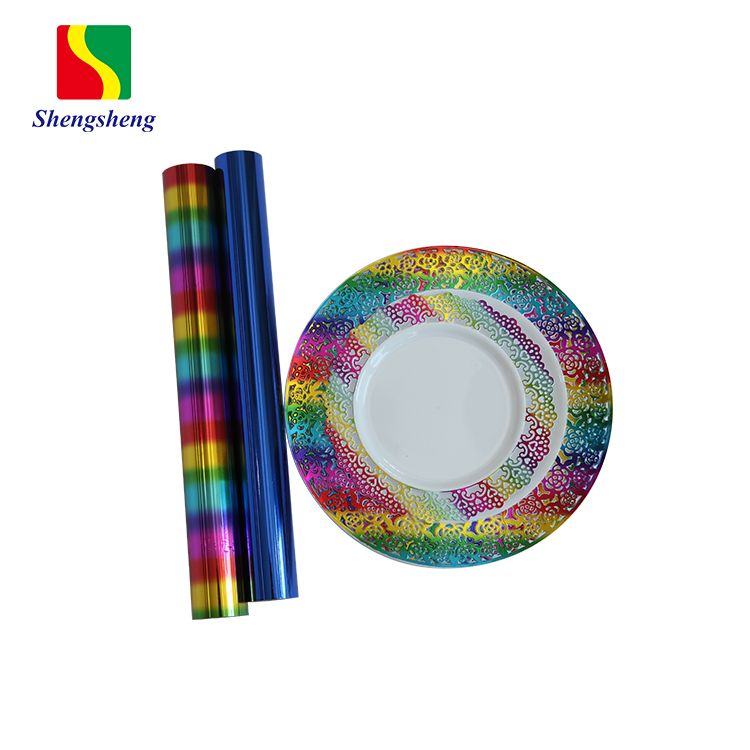 格安カスタム高品質多色ホットスタンピング箔プラスチックプレートとカップ