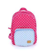 Pokka Dot Mini Polyester Fabric Backpack School Bag
