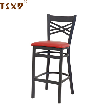 Iron metal tall bar chair for restaurant