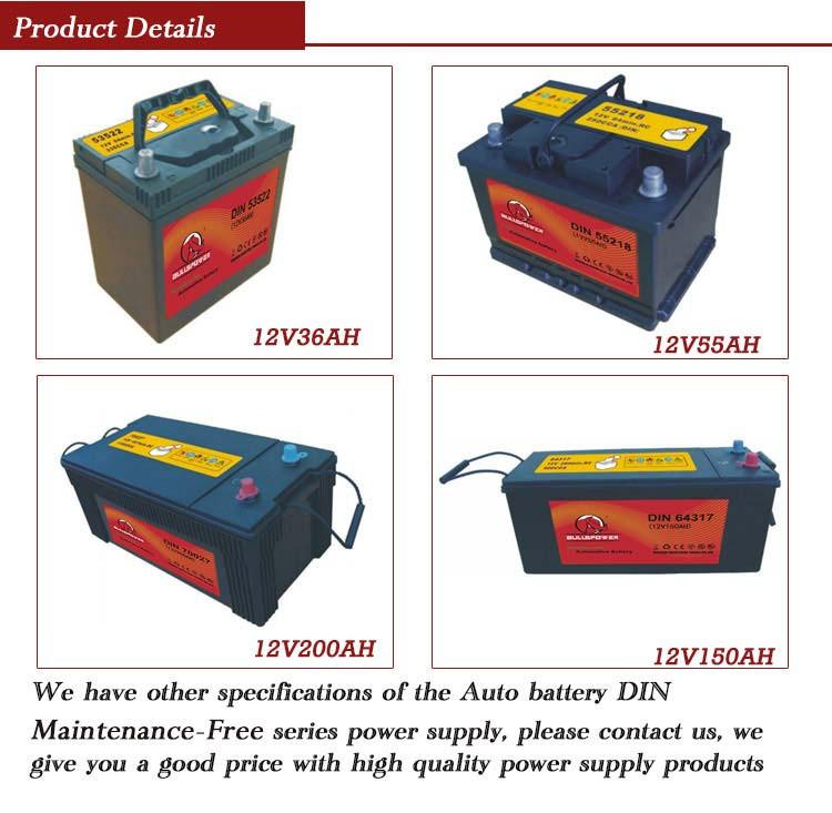 24v Car Battery 56049 Din Standard 12v 60ah Car Battery Terminal