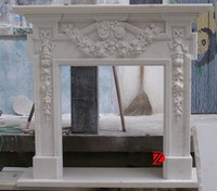 Marble fireplace mantel surrounds