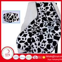 cow print flannel fleece blanket