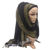 New arrival hot selling factory direct supply golden silk thread glitter dubai muslim hijab scarf