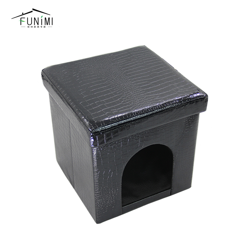 PVC Leather Fleece Cushion Bed for Dog