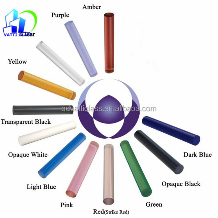 Supply colored borosilicate glass tube, pure color, coating color