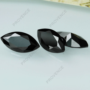 Hot sale cz gems marquise black cubic zirconia gemstone for buyers