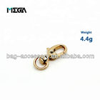 Fashion decorative handbag hardware clasp clip rose gold spring swivel small metal trigger bag snap hook wholesale
