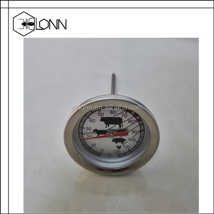 80mm Waterproof Bimetal Grill Kamado Thermometer for barbecue lid