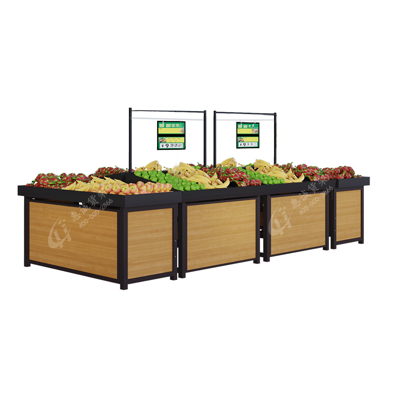 Factory direct sales single sided wall display supermarket store shelf wood steel rack
