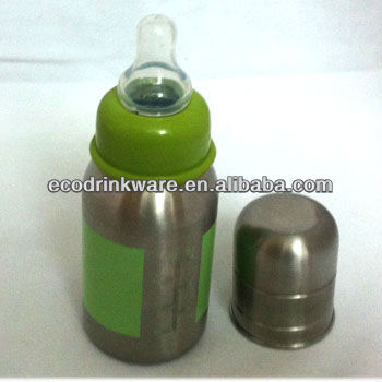 OEM bpa free `120ml stainless steel baby feeding CUP