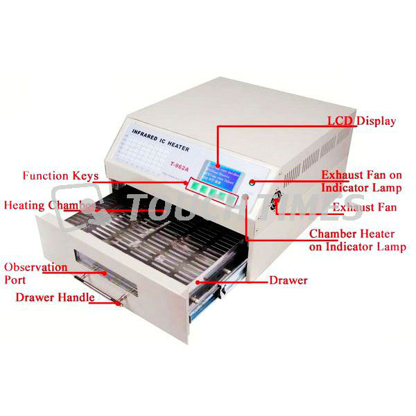 New SMD BGA IC Desktop Automatic Smart Reflow Oven PUHUI T962A