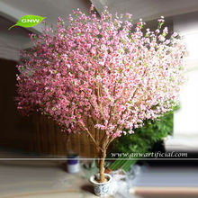 GNW BLS1093 Indoor Artificial Peach Blossom Tree for Window Shows Pink Christmas Trees