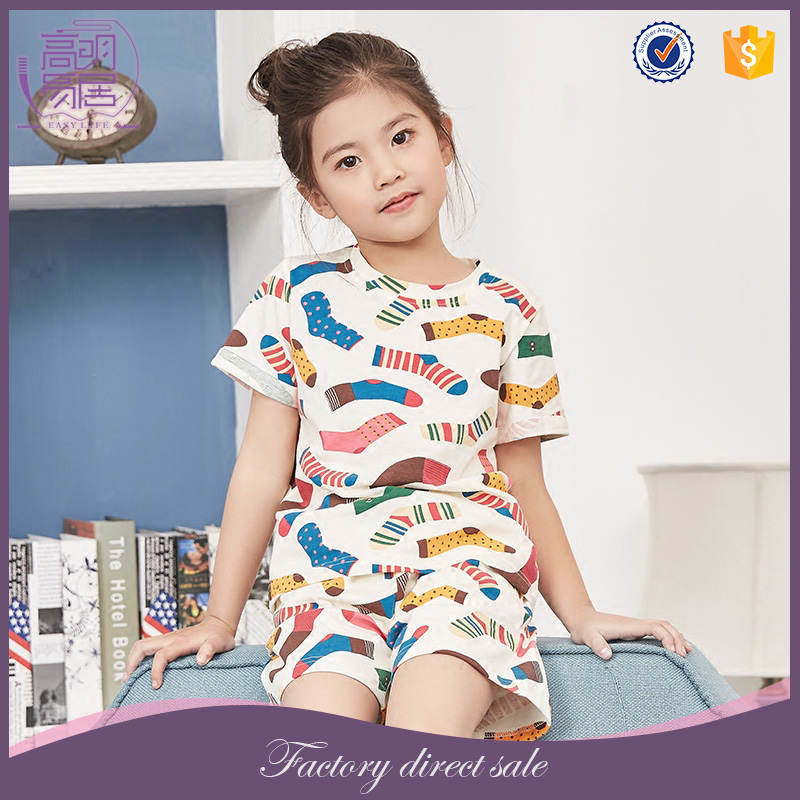 Childrens Boutique Clothing Kids Funny Printed Kids Girl Pajamas